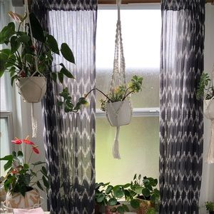 Urban Outfitters patterned window curtains